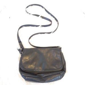 Margo black leather crossbody handbag